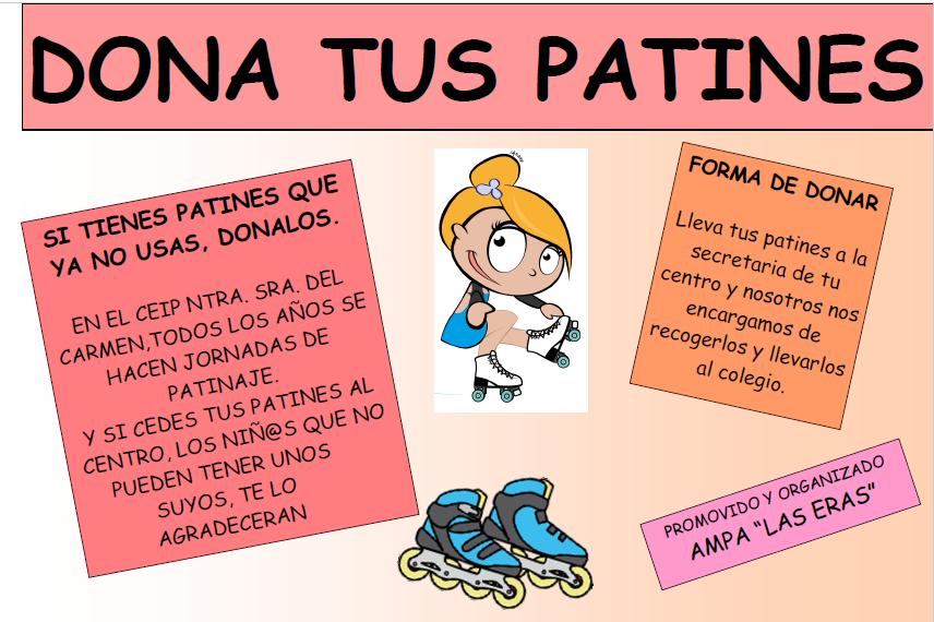 Dona tus patines a los alumnos de colegio Ntra. Sra. del Carmen